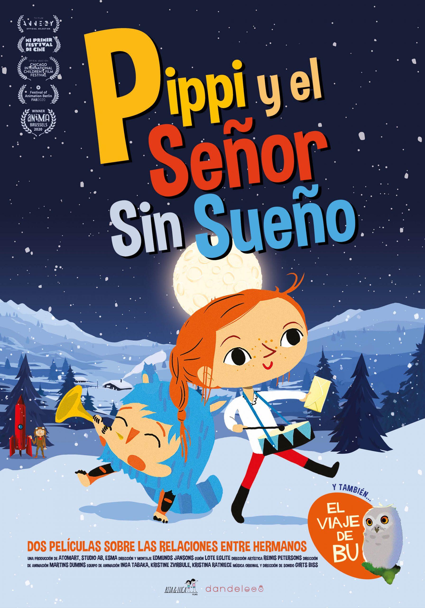 Poster Pippi y el señor sin sueño